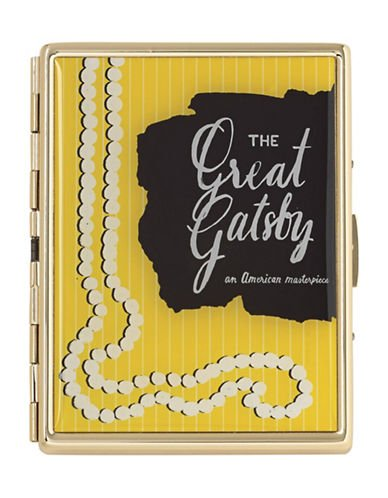Kate Spade New York A Way With Words Great Gatsby I.D. and Credit Card Holder, Gold-Plated Metal