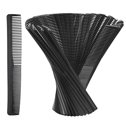 Hestya Hair Comb Pocket Size Unbreakable Plastic Hairdressing Styling Combs for Salon or Hotel Hair Care, Black(36 Pack 17.5 cm) (Soho Hair Comb)