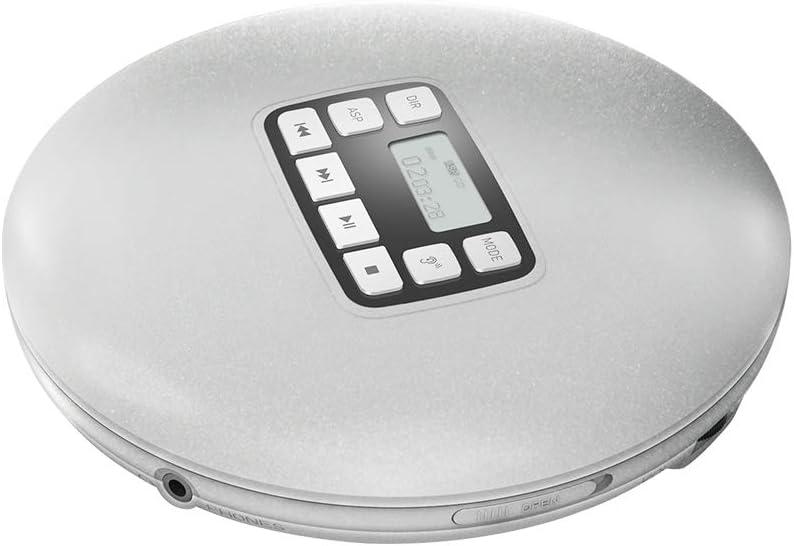 Black HOTT Tragbarer CD-Player Pers/önlicher CD-Player mit LCD-Display Stereo-Ohrh/örer und USB-Netzteil Elektronischer /Überspringschutz Anti-Shock-Funktion