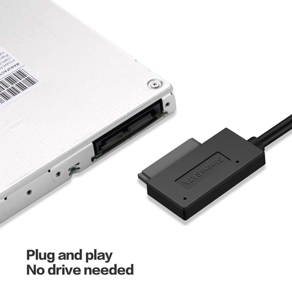 Gcdn SATA a USB 3.0 Disco Duro Port/átil Accesorios 13 Pin Cable Datos Notebook Adaptador