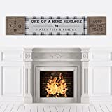 70th Milestone Birthday - Dashingly Aged to Perfection - Party Decorations Party Banner