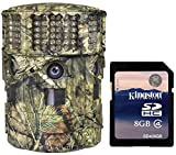 Moultrie No Glow 14MP Panoramic 180i IR Trail Game Hunting Camera + 8GB