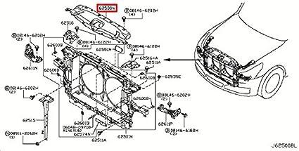 Infiniti Genuine Front Apron Radiator Core Support Ornament Emblem 625c0 Jk00a G35 37