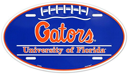 University of Florida Gators Oval License Plate Tin Sign 6 x 12in