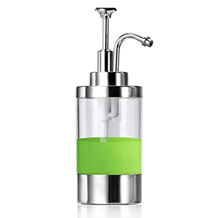 Sumnacon Dish Soap Dispenser Bottle, Stainless Steel Countertop Liquid Soap  Dispenser, Stylish Refillable Bathroom