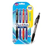 Paper Mate Profile Pen Ballpoint, Retractable Ball Point Pen Assorted Translucent Barrels Bold-1.4mm, 4-Carded, Assorted Inks (89473)