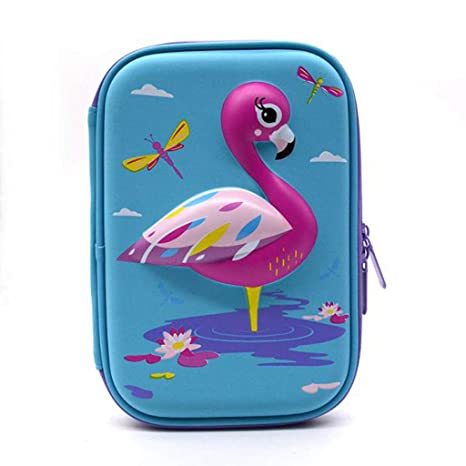 Amazon.com : EALAMEI Pencil case Pencil case Flamingo ...