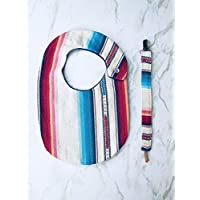 Serape Bib Set with Pacifier Clip