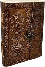Diário de coruja | Diário de coruja de couro | Coruja | Presentes de coruja para homens | Diário de coruja par