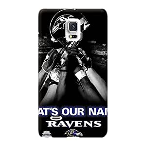 Perfect Hard Phone Case For Samsung Galaxy Note 4 With Allow Personal Design High-definition Baltimore Ravens Series JohnPrimeauMaurice