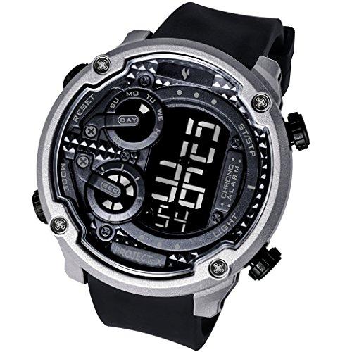 Men's Digital Outdoor Waterproof Alarm Stopwatch Quartz Watches