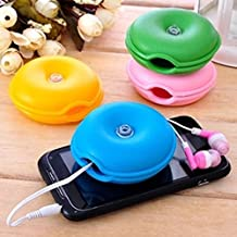 Yosoo Cute Turtle Winder Cord Cable Turtle Organizer Wire Box Headphone Earphone Smart Wrap -Random Color (Pack of 3)