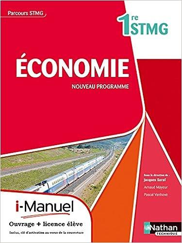 Téléchargement d'ebooks Epubs Economie 1re STMG PDF MOBI 2091624160 by Pascal Vanhove,Arnaud Mayeur