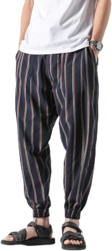 N/ A Pantalones de chándal de algodón con Estampado de algodón ...