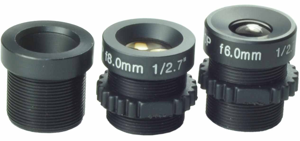 Kits of Lens 6mm,8mm,12mm Board Lens Black for Security CCTV Surveillance Camera by blf