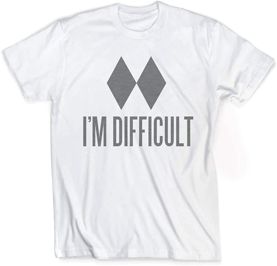 ChalkTalkSPORTS I'm Difficult T-Shirt | Vintage Skiing T-Shirt | Youth Sizes