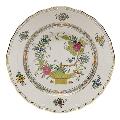 Herend Baskets - Herend Indian Basket Porcelain Dessert Plate