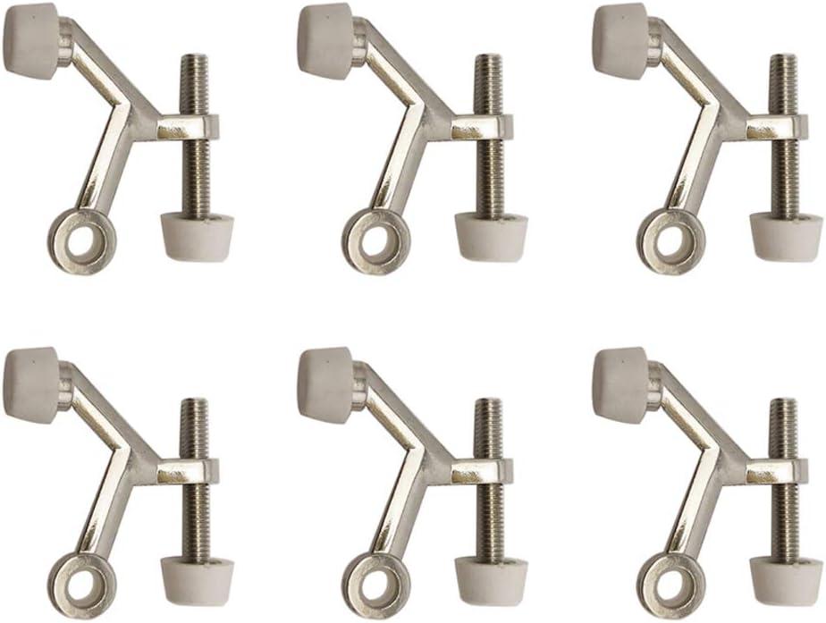 YES Time 6 Pieces Zinc Alloy Door Stopper Hinge Pin Door Stop