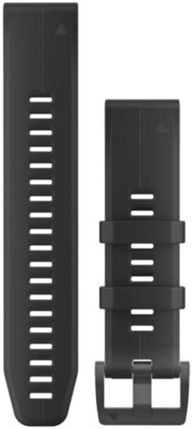 Garmin 010-12740-00 Quickfit 22 Correa de reloj - silicona negra - Accesorio para Fenix 5 Plus/Fenix 5