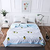 Uther Cotton Summer Quilt Thin Comforter for Summer Lightweight Bed Quilt Blanket (Potted plant , Twin)