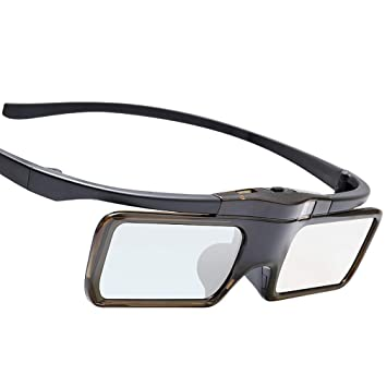 ZUZEN Gafas 3D de Obturador DLP-Link Proyector 3D Baterías de ...