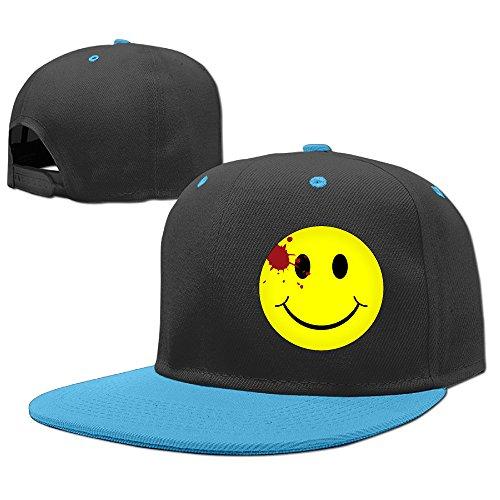 [^GinaR^ 140g Watchmen Bloody Smiley Face Exquisite Unisex Hip-hop Baseball Cap Sun Hat Sports CapsPure Cotton Child Baseball Cap -] (Smiley Horror Mask)