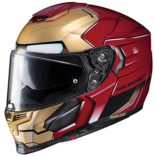 HJC Helmets 1696-914 Casco de Ironman Grande Rpha-70 ST, Dorado/burguesa