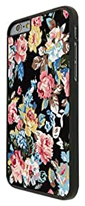 "Cute Vintage shabby Chic Black Floral Roses iPhone 6 4.7"" Design Fashion Trend Cool Case Back Cover Plastic/Metal"
