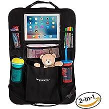 Backseat Car Organizer & Kick Mat: Back of Seat Storage & Organization for Kids