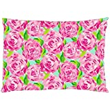 Home Decorative Flower Throw Pillow Case Cushion Cover 12 x 20 Inches
