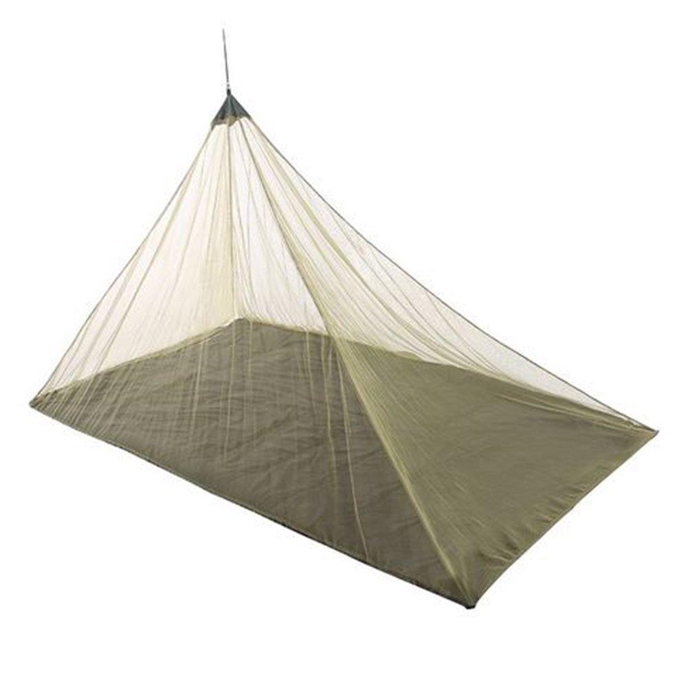 GeKLok Zanzariera per letto singolo campeggio , ad alta densità netto di 256fori per pollice quadrato, durevole Mothproof camping use Travel prospettiva Mosquitto net Outdoor Supplies, Nero