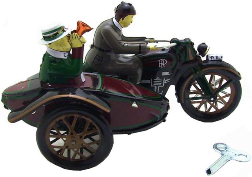 STOBOK Triciclo de estaño Juguete Cuerda mecánica muñeca Triciclo Estatua Triciclo Retro Modelo decoración para el hogar Adornos niños Regalo de año Nuevo