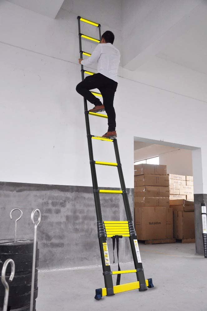 ECHELLE T/ÉLESCOPIQUE 4M40 GRAFITEK AVEC BARRE STABILISATRICE AVEC HOUSSE