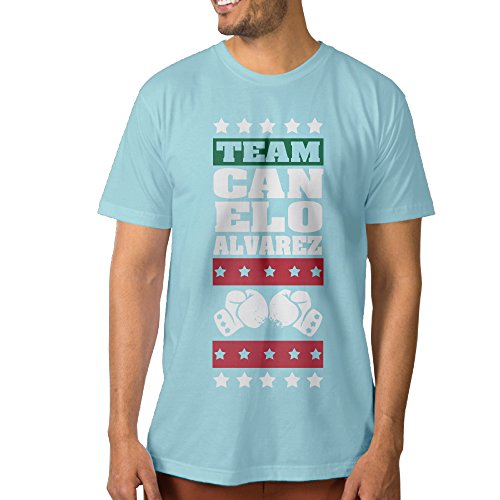NUBIA Men's Canelo A Team Cool Tshirt SkyBlue Size L (Elf On The Shelf On The Toilet)