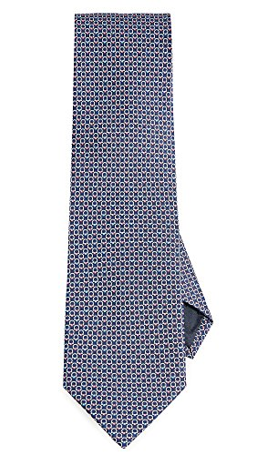 (Salvatore Ferragamo Men's Energia Tie, Navy, Blue, Print, One Size )