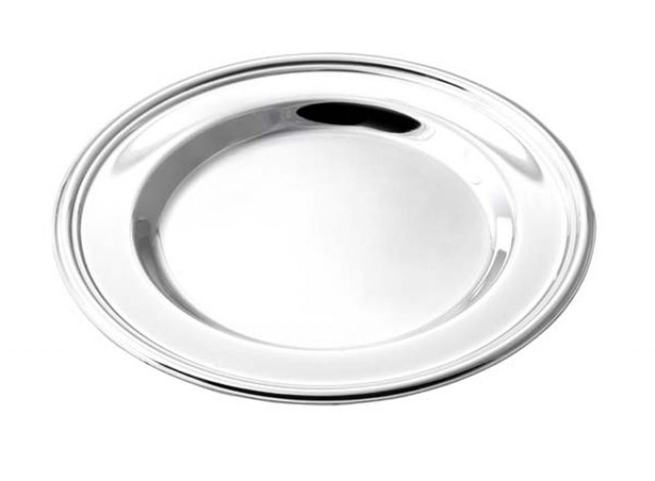 TEN SILVER PLATED COASTER English style - cod. EL094 - L. 11, 3 cm - W. 11, 3 cm - H. 1 cm - Ø11 cm by Varotto & Co. VAROTTO ALFREDO