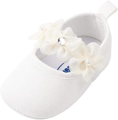 Zapatos Bebe Niña Primeros Pasos Perla Algodón Zapatos para Recien nacido bautizo: Amazon.es: Ropa y accesorios