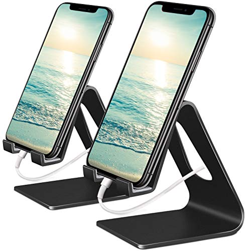 Vetoo Cell Phone Stand, 2 Pack Phone Dock: Cradle, Holder, Stand Compatible with Switch, All Android Smartphone, Phone…