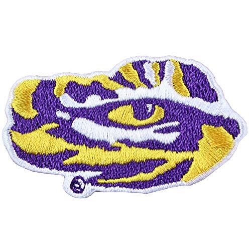 (Louisiana State Tigers LSU Tiger Eye Logo Iron On Embroidered Patch Medium )