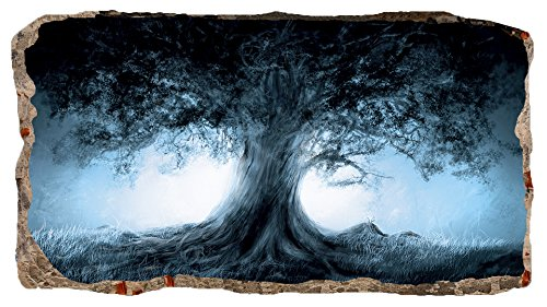 Startonight 3D Mural Wall Art Photo Decor The Tree Amazing Dual View Surprise Large 32.28 inch By 59.06 inch Wall Mural Wallpaper for Living Room or Bedroom Abstract Collection Wall Art Paint Mural Kids Room