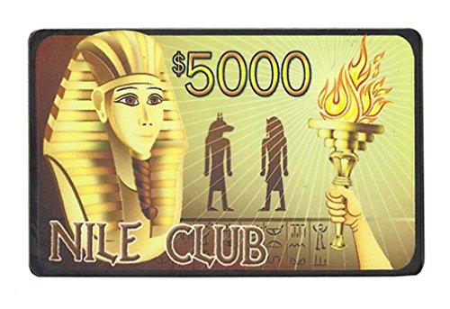 40g Ceramic Poker Plaques - Bry Belly CPNI-$5000 25 Roll of 25 - $5000 Nile Club 40 Gram Ceramic Poker Plaque
