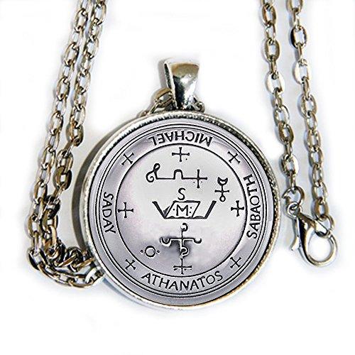 Archangel Michael Sigil - pendant necklace - -