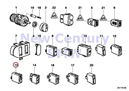 BMW Genuine Various Switches Seat Heating Switch 840Ci 840i 850Ci 850CSi 318i 318is 318ti 320i 323i 325i 325is 328i M3 M3 3.2 Z3 1.9 Z3 2.5 Z3 2.8 Z3 M3.2