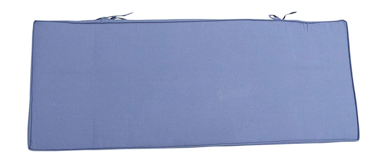 UK-Gardens Garden Furniture Cushions - Small 2 Seater Metal Bench Cushion 42x108 cm - Navy Blue