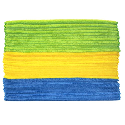 Polyte Premium Microfiber Cleaning Towel, 16 x 16 in, 36 Pack