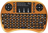 Rii i8+ Mini Wireless 2.4G Backlight Touchpad Keyboard with Mouse for PC/Mac/Android, Gold