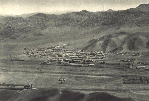 Sunken Village - Chile. Pueblo Hundido. Vista aérea hacia el Norte. Sunken Village. - 1932 - Old Print - Antique Print - Vintage Print - Printed Prints of Chile
