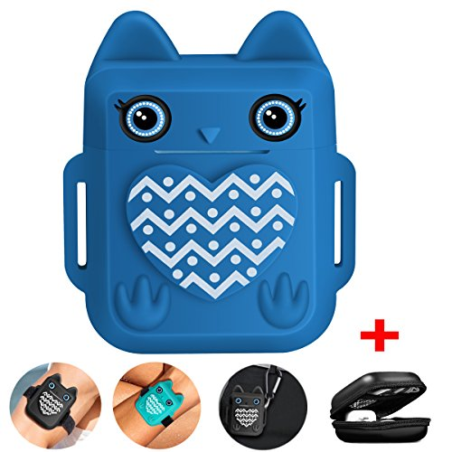 Compatible for Apple Airpods Case Cover, VOMA for Apple Airpods Accessories Airpods Cover[Cute Owl Design][Shock Resistant][Added Keychain, Carrying Case& Airpods ()