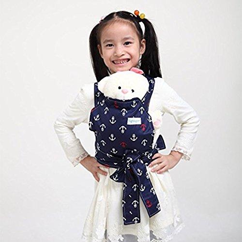 Baby Doll Carrier Mei Tai Sling Toy pour enfants Enfant enfant en bas d'enfant Dos, Mini-porteuse, Hibou, Dot, Fleur, Kaléidoscope (Anchor) CN