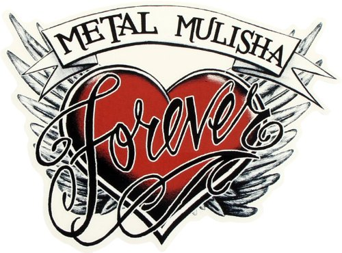 Metal Mulisha Junior's Forever 25 Pack Sticker, Black Winter White/Red, One Size